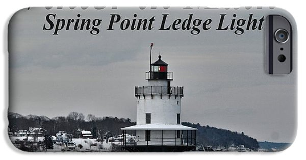 Winter In Maine iPhone Cases - Spring Point Ledge Light_9969a iPhone Case by Joseph Marquis