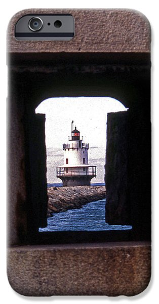 SPRING POINT LEDGE LIGHTOUSE iPhone Case by Skip Willits