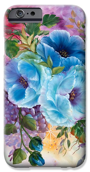 """indoor"" Still Life Paintings iPhone Cases - Spring Poppys iPhone Case by  ILONA ANITA TIGGES - GOETZE  ART and Photography"