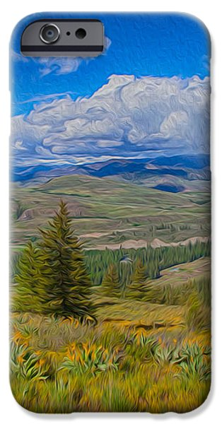 Spring Rain Across a Valley iPhone Case by Omaste Witkowski