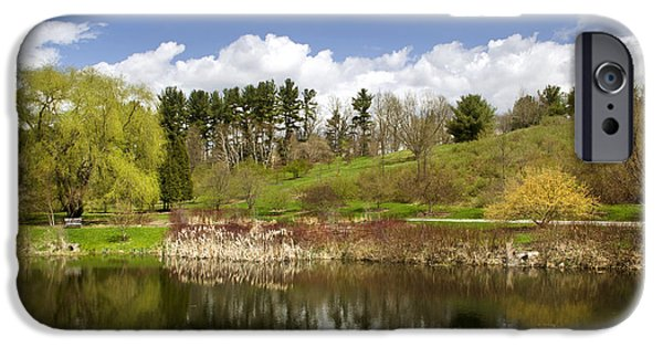 Rural iPhone Cases - Spring Reflection Landscape iPhone Case by Christina Rollo
