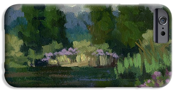 Spring iPhone Cases - Spring Reflections at Harrys Pond iPhone Case by Diane McClary