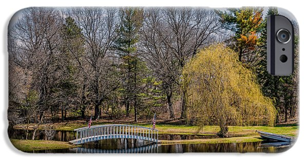 Willow Lake iPhone Cases - Spring Reflections iPhone Case by Paul Freidlund
