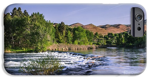 Flooding iPhone Cases - Spring Run Off On The Payette River iPhone Case by Robert Bales