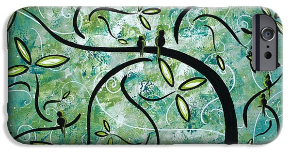 Contemporary Abstract iPhone Cases - Spring Shine by MADART iPhone Case by Megan Duncanson