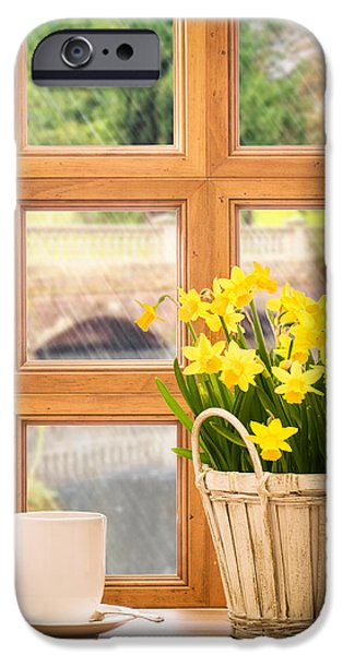 Window iPhone Cases - Spring showers iPhone Case by Amanda And Christopher Elwell
