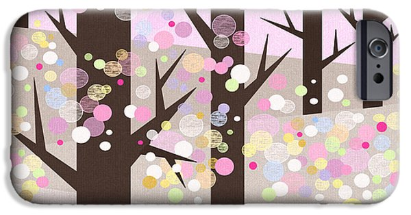 Business Digital Art iPhone Cases - Spring Snow iPhone Case by Val Arie