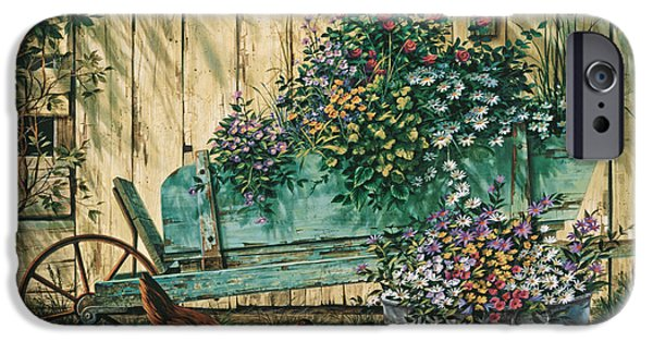 Michael Paintings iPhone Cases - Spring Social iPhone Case by Michael Humphries