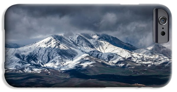 Haybale iPhone Cases - Spring Storm On Squaw Butte iPhone Case by Robert Bales