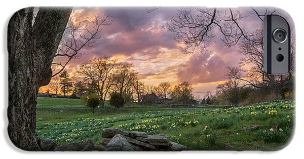 Spring Landscape iPhone Cases - Spring Sunset iPhone Case by Bill  Wakeley