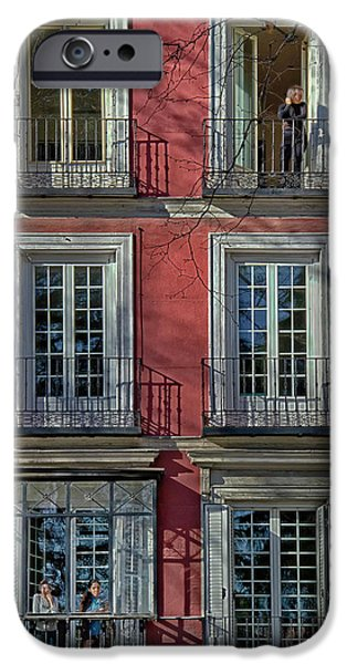 Pastel iPhone Cases - Spring Sunshine in Madrid iPhone Case by Joan Carroll