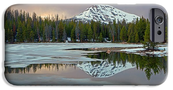 Watson Lake Photographs iPhone Cases - Spring thaw in the Uintas iPhone Case by Johnny Adolphson