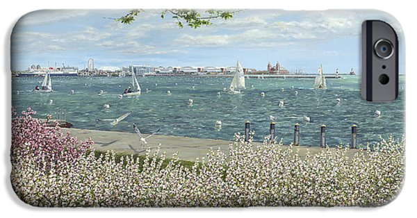 Chicago Paintings iPhone Cases - Spring Tidings iPhone Case by Doug Kreuger