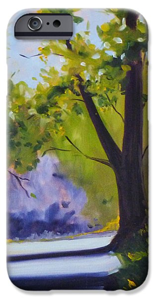 Business Paintings iPhone Cases - Spring Trail iPhone Case by Nancy Merkle