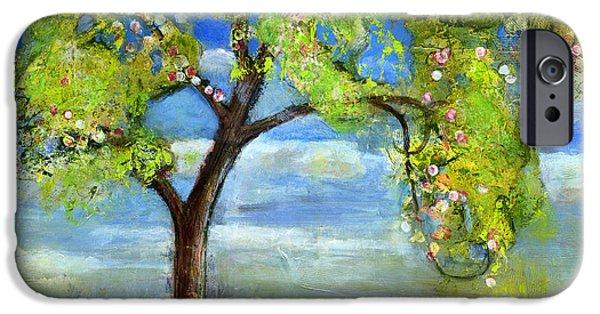 Sprint iPhone Cases - Spring Tree Art iPhone Case by Blenda Studio