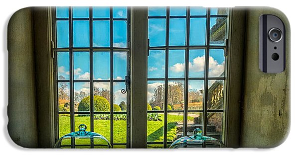 Window Cover iPhone Cases - Spring View iPhone Case by Adrian Evans