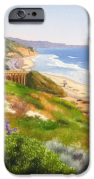 Pines iPhone Cases - Spring View of Torrey Pines iPhone Case by Mary Helmreich