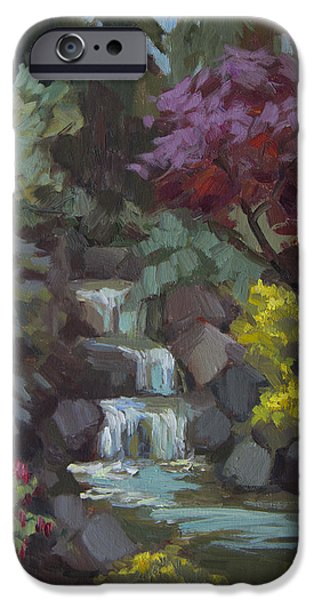 Spring iPhone Cases - Spring Waterfall iPhone Case by Diane McClary