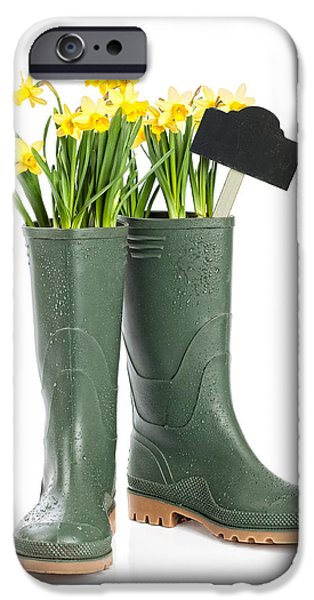 Concept Photographs iPhone Cases - Spring Wellies iPhone Case by Amanda And Christopher Elwell