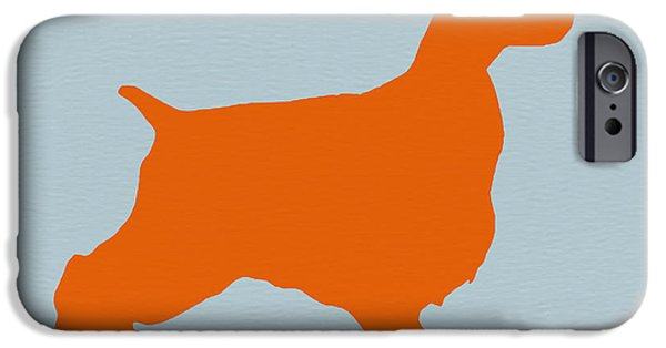 Puppies Drawings iPhone Cases - Springer Spaniel Orange iPhone Case by Naxart Studio