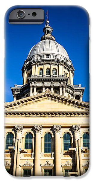 Springfield Illinois State Capitol Building iPhone Case by Paul Velgos
