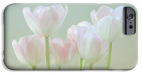 Concept Art iPhone Cases - Springs Pastels iPhone Case by Kim Hojnacki