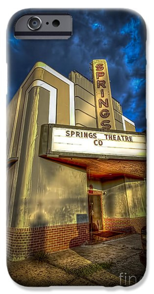Florida House Photographs iPhone Cases - Springs Theater Co iPhone Case by Marvin Spates