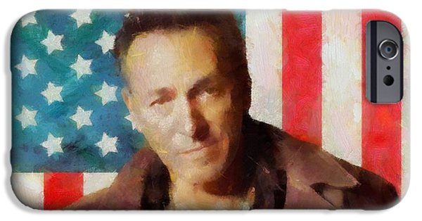 Nebraska iPhone Cases - Springsteen American Icon iPhone Case by Dan Sproul