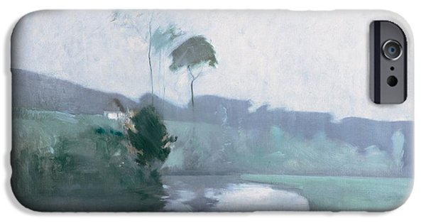 Impressionist Photographs iPhone Cases - Springtime, C.1884 Oil On Canvas iPhone Case by John Henry Twachtman