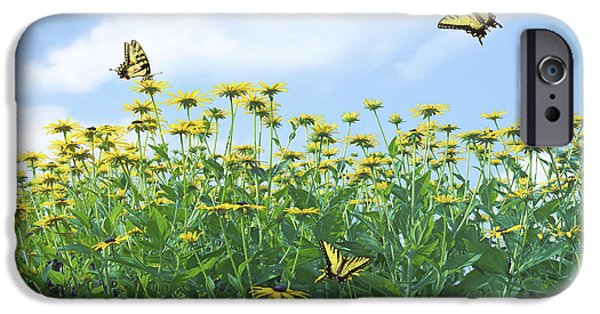 Meadow Photographs iPhone Cases - Springtime iPhone Case by Diane Diederich