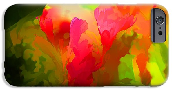 Concept Digital iPhone Cases - Springtime Flowers Abstract iPhone Case by Luther   Fine Art