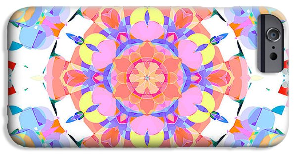 Youthful iPhone Cases - Springtime Geometry 3 iPhone Case by Shawna  Rowe