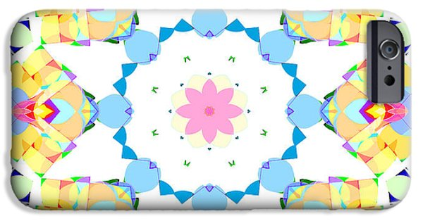 Youthful iPhone Cases - Springtime Geometry iPhone Case by Shawna  Rowe