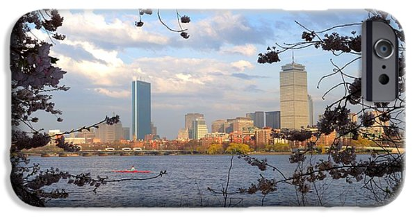 Charles River iPhone Cases - Springtime in Boston iPhone Case by Toby McGuire
