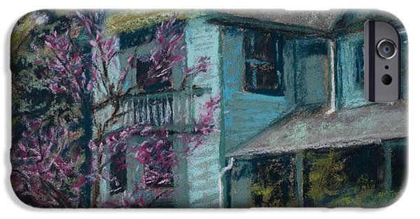 Fort Collins Pastels iPhone Cases - Springtime in Old Town iPhone Case by Mary Benke