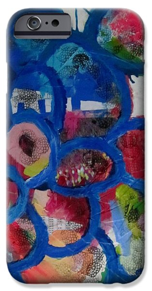 Abstract Sculptures iPhone Cases - Springtime in the asylum iPhone Case by Robin  Kalinich