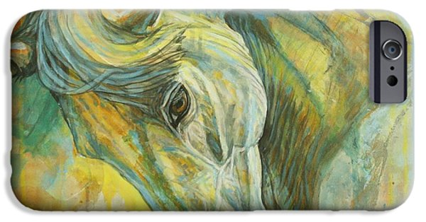 Horse Artist iPhone Cases - Springtime Moods iPhone Case by Silvana Gabudean
