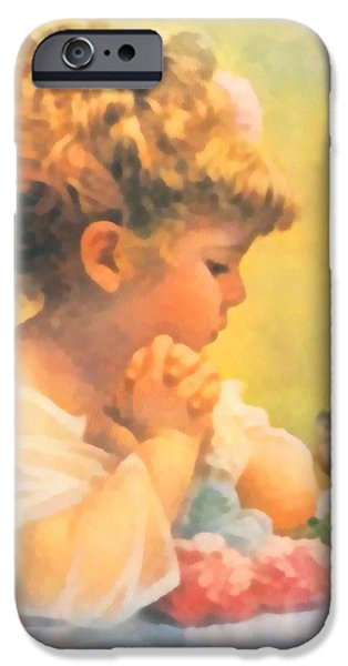 Baby Bird Digital iPhone Cases - Springtime of Life iPhone Case by Bessie Pease Gutmann
