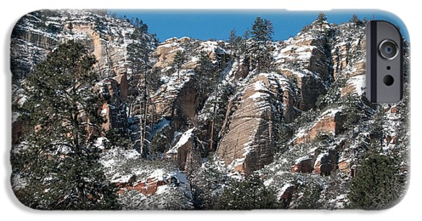 West Fork iPhone Cases - Sprinkled with Snow iPhone Case by Tam Ryan