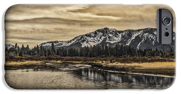 Willow Lake iPhone Cases - Sprit Of The Mountain iPhone Case by Mitch Shindelbower