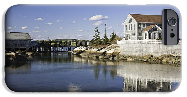 Down East iPhone Cases - Spruce Head on The Coast Of Maine iPhone Case by Keith Webber Jr