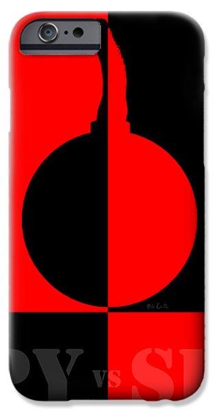 Bob Orsillo Digital Art iPhone Cases - Spy vs Spy iPhone Case by Bob Orsillo
