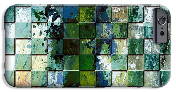 Modern Digital Art iPhone Cases - Square mania - Abstract 01 iPhone Case by Emerico Imre Toth