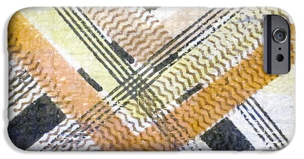 Tribal Tapestries - Textiles iPhone Cases - Square Root of Kapa iPhone Case by Dalani Tanahy