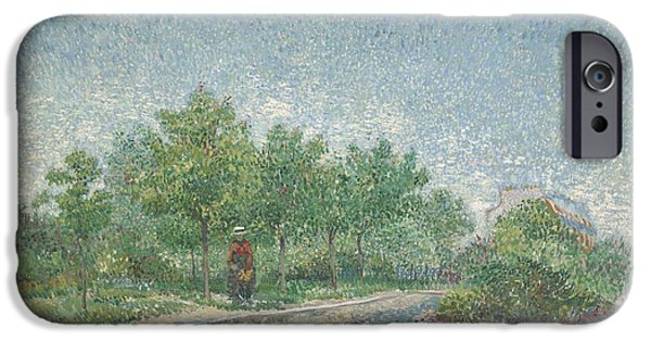 Figures Paintings iPhone Cases - Square Saint Pierre iPhone Case by Vincent van Gogh