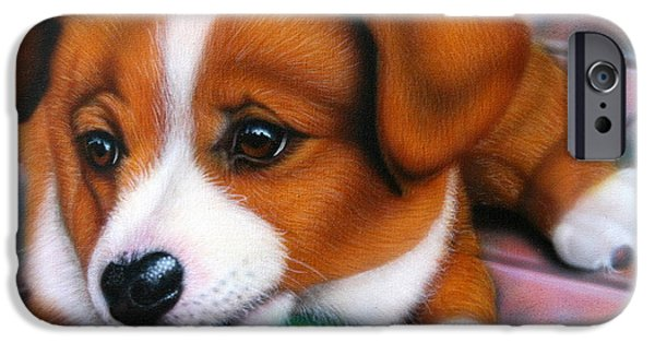 Cute Puppy iPhone Cases - Squeaker iPhone Case by Darren Robinson