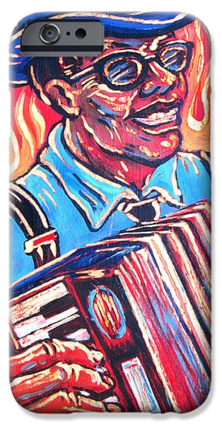 Squeezebox Blues iPhone Case by Robert Ponzio