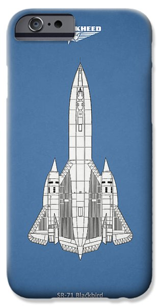 Recently Sold -  - Flight iPhone Cases - SR-71 Blackbird iPhone Case by Mark Rogan