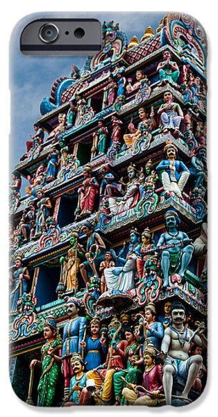 Hindu Goddess iPhone Cases - Sri Mariamman Temple Singapore iPhone Case by Frank Gaertner