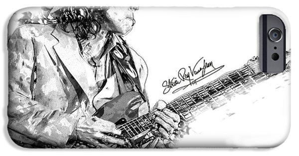 Guitarist Digital Art iPhone Cases - S.r.v. 1 iPhone Case by Gary Bodnar